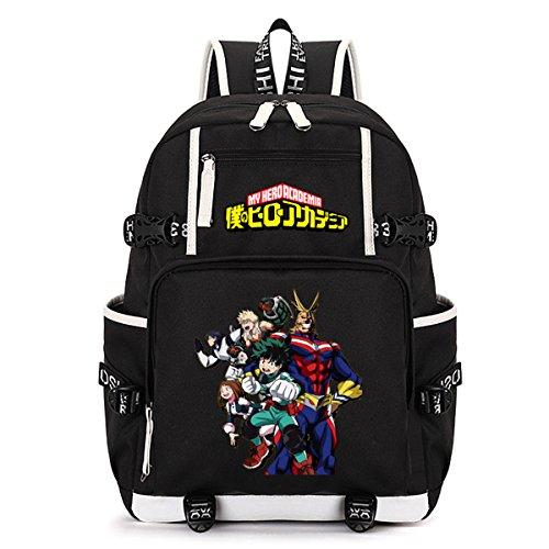 AUGYUESS My Hero Wissenschaft Anime Cosplay Rucksack Schultasche Daypack Schultasche Laptop-Tasche Large 2