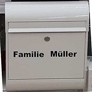 Breifkasten AUFKLEBER Namen Aufkleber Familie Namenschild universelle Einsatzmöglichkeiten.Haustür Briefkasten…