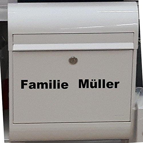 Namenaufkleber Familie Namenschild universelle Einsatzmöglichkeiten...Haustür Briefkasten Wandtattoo Möbel Fliesen