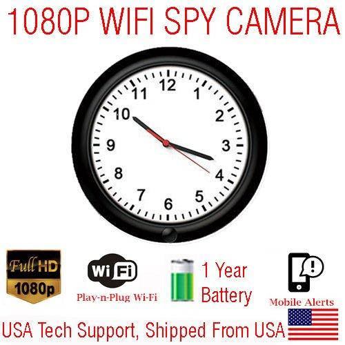 wall clock hidden security nanny cam