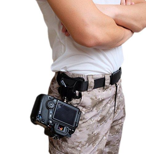 Cámara réflex digital de WITHLIN cintura cinturón bucklebutton - suspensión de la cámara correa funda Portaclips rápida plataforma de carga para cámara SLR réflex digital (Canon Nikon Sony Olympus Pentax, etc)