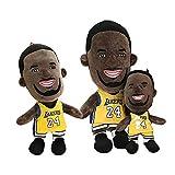 ZPR Muñecas de Souvenirs de Kobe Bryant, Juguetes de Peluche de Mamba Black, Decoraciones de Regalo de Ventilador, Homenaje a la Mamba Negra (Color : A, Size : A)