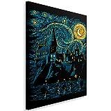 Feeby Fantasie vom DDJVIGO Leinwandbild - 40x60 cm - schwarz blau gelb