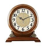 ZJZ Relojes de repisa silenciosos Antiguos, Reloj de Madera de Westminster, Reloj de Mesa, Reloj de Mesa, Reloj de Cuarzo, decoración clásica, Estante de pie, 34,5 * 11,5 cm