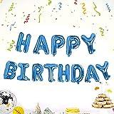 Camelize Happy Birthday Ballons Banner,selbstaufblasendes Luftballons ,Buchstaben Folien Banner,Geburtstag Luftballons,Buchstaben Folien Banner,Folienluftballons Dekoration für Partydekoration,Blau