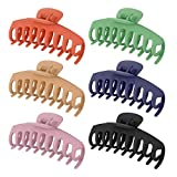 SUSSURRO 6 Pieces Big Large Hair Claw Clips Banana Clips Hair Claw Clamps HairpinFrench Design Accessories for Women Girls