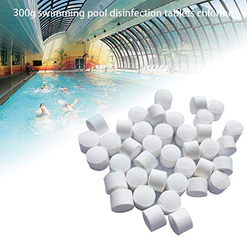 meaningful Tabletas de cloración Desinfectante Tabletas de cloro Piscina Desinfección instantánea Tabletas Dióxido de cloro Tableta efervescente Desinfectante de cloro 300 g efficient typical