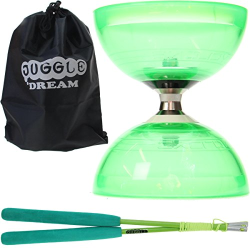 Glow Diabolo Set w // Sticks m/étal Diablo Kit LED /& Sac FT Juggle Dream Cyclone Quartz 2 Violet