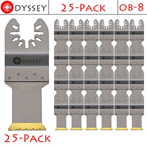 Lowest Price! Odyssey Titanium Bi-Metal Oscillating Multitool 1-1/8 Wide Wood Plastic Saw Blade Fit...