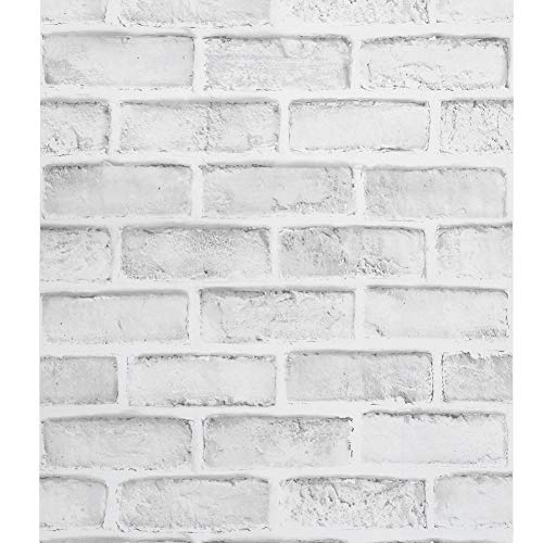 FTVOGUE 10m Faux Brick Wallpaper Wallpaper Efecto Mural 3D Moderno Etiqueta de La Pared Decorativa para el Restaurante Home Cafe Bar Pegatinas de Pared Papel Tapiz
