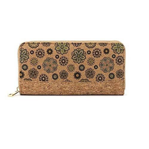 Nakalara - Cartera de mujer, estilo informal, de piel de corcho, ligera, ecológica, sostenible, material suave y duradero