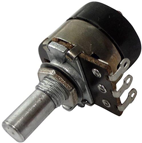 Aerzetix Linear Drehpotentiometer 10kΩ Mono 200mW mit Schalter Achse glatt 6mm 10mm 18x18mm 200V AC C14978