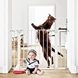 Tokkidas 40.6'-29.5' Auto Close Safety Baby Gate, Extra Tall and Wide Child Gate, Durable Easy Walk Thru Dog Gate for Stairs, Doorways, House, Includes 2.75' & 5.5' Extension and 4 Wall Cups.