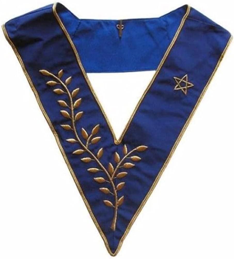 Masonic Officer's collar - AASR - Thrice Powerful Master - Hand embroidery