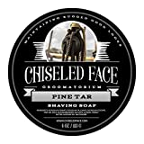 Pine Tar Handmade Luxury Shaving Soap by Chiseled Face — Rich, Thick Lather — Smooth,...