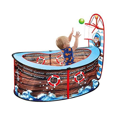 WCY Babyplaypen, Piraten-Schiffs-Zelt Kinder-Ball Pits beweglich Faltbare Play House Infant Pool mit Korb im Freien Spielzeug for Kinder yqaae