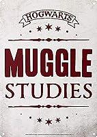 Hogwarts Muggle Studies 金属板ブリキ看板警告サイン注意サイン表示パネル情報サイン金属安全サイン