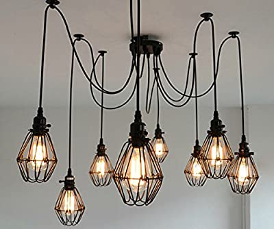 SUSUO Lighting Modern Chic Multi Pendant Chandelier Adjustable DIY Ceiling Spider Pendant Lighting