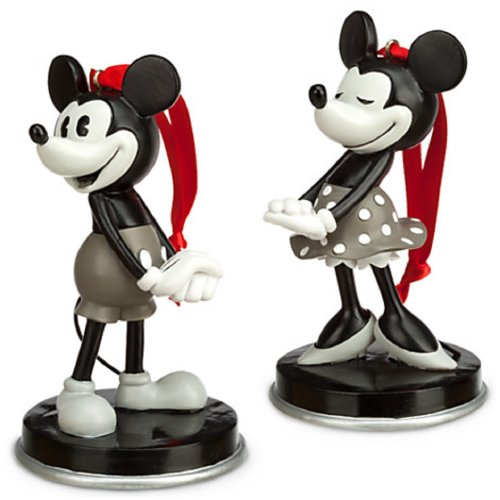 Disney Mickey and Minnie Mouse ''1928'' Ornament Set Anniversary Edition