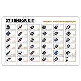 Kit de inicio de módulos electrónicos 37/45 en 1 sensor Kit de aprendizaje de bricolaje compatible con Arduino