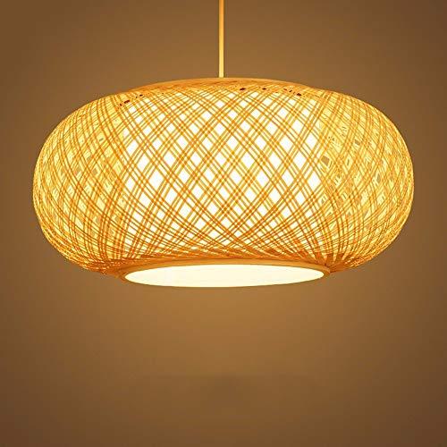 Xiao Fan * Hanglamp kroonluchter Vintage Retro Zuidoost-Aziatische bamboe Woven Birdcage lantaarn gang lampen 50 * 23 cm 9 Watt Leid Restaurant Decoratie