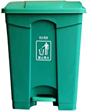 C-J-Xin Dark Green Trash Can, Garden Square High Capacity Outdoor Trash Can Home Waste Collection Bin Sundries Storage Box...