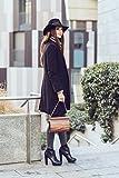 Embawo Clutch Handtasche Damen BENEDETTA aus echtem italienischem Leder in schwarzer Farbe und echtem indischem Apfelholz - Handgemachte Qualität Made in Südtirol - 7