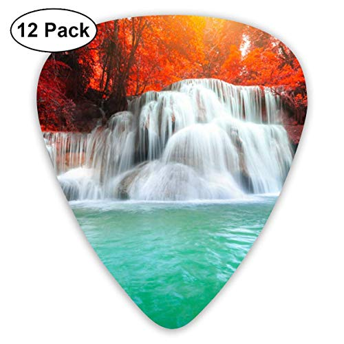 Kamin Waterfall Thailand 351 Shape Classic Celluloid Guitar Pick For Electric Acoustic Mandolin Bass (12 Count)