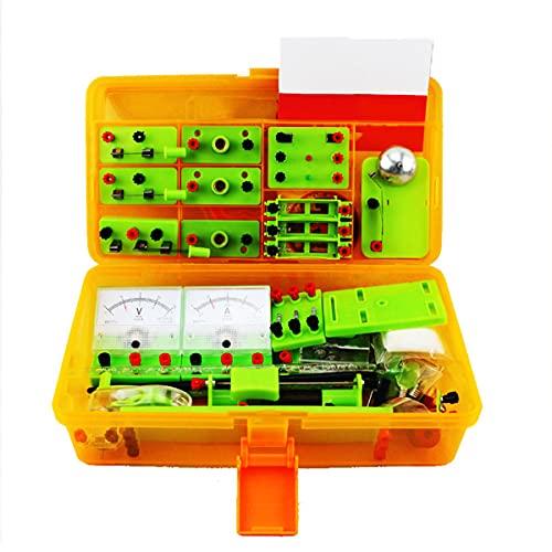 MTYQE Laboratorio De FíSica Kit Circuitos Electronicos,Laboratorio Electricidad Kit Electrico Escolar para...