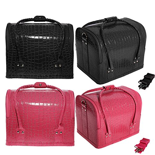 Bluelover Croc Four Level Make-Up Vanity Case Nail Art cosmetische opslag Box