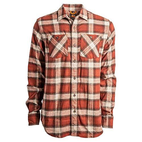 Timberland PRO Herren Woodfort Flex Flannel Shirt (Modern Fit) Work Utility Hemd, Maroon Plaid, Klein