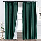 ChadMade Custom Velvet Curtain Drapery, for Traverse Rod and Rod, Living Room Curtain Home Theater...