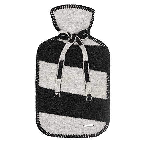 GiesSWEIN Hatting – warmwaterkruik met hoogwaardige overtrek, warmwaterkruik van 100% lamswol, zebra motief, warmtebehandeling, zacht - 2 liter