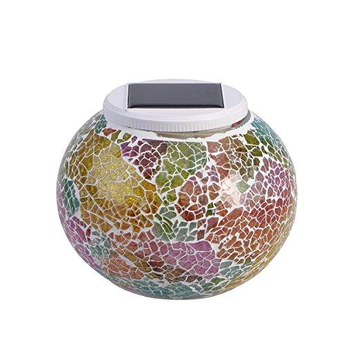 ledmomo ceramica cambia colore solare luci lampade da tavolo lampada solare mosaico design Palla LED luci da giardino Outdoor impermeabile all' aria aperta luce per prato Home Decorazioni Yard