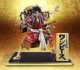 SZSOZD Anime One Piece Monkey D Luffy Kimono Kabuki Edition PVC Figuras de acción Colección Modelo B...