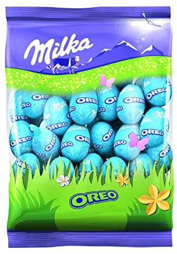 Milka – Petits Œufs Oreo – Chocolat au Lait du Pays Alpin – Pour la Chasse aux Œufs à Pâques – Sachet de 350g