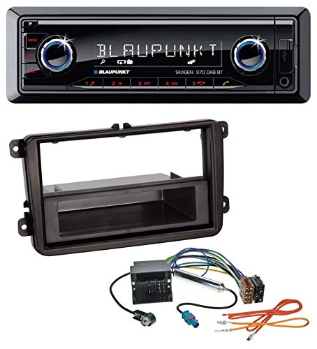 caraudio24 Blaupunkt Skagen 370 DAB BT USB SD DAB MP3 Bluetooth Autoradio für Skoda Praktik/Superb/Yeti