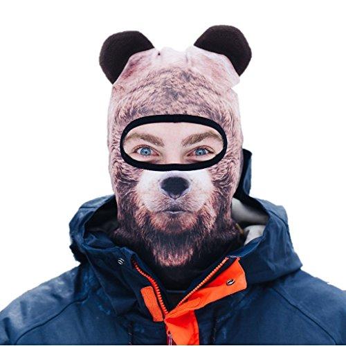 Beardo Balaclava Ski Mask, Bear