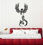Fire Phoenix Vinyl Wall Decal Fantasy Bird Myth Kids Room Art Stickers Mural Large Decor (ig5299)