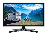 Reflexion LEDW-24N Wide-Screen LED-Fernseher (24 Zoll) für Wohnmobile mit DVB-T2 HD, Triple-Tuner und 12 Volt Kfz-Adapter (12/24 Volt, Full-HD, HDMI, USB, EPG, CI+, DVB-T Antenne), schwarz