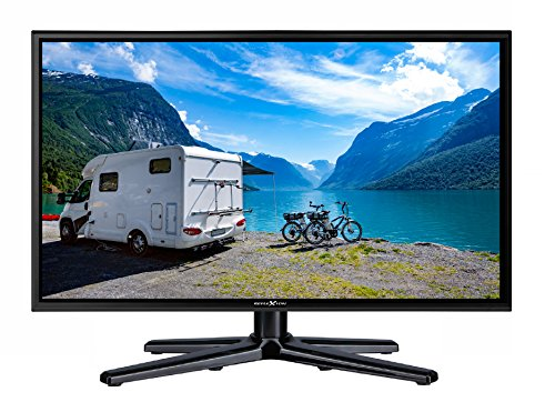 Reflexion LEDW Wide-Screen LED-tv voor campers met DVB-T2 HD, Triple-Tuner en 12 volt auto-adapter (12/24 volt, Full-HD, HDMI, USB, EPG, CI+, DVB-T-antenne), zwart