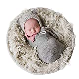 Sunmig Newborn Baby Stretch Wrap Photo Props Wrap-Baby Photography Props (Light Grey)