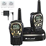 Midland 22 Channel FRS Walkie Talkies with Channel Scan - Long Range Two Way Radios, Silent Operation, Batteries Included (Mossy Oak Camo, 2-Pack)