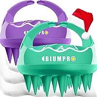 Scalp Massager, 2 Pack Scalp Brush Hair Shampoo Brush Head Scrubber [ 2020 Upgraded Version ] 100% Comfortable for All...