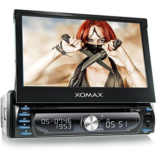 XOMAX XM-DTSBN927 Autoradio / Moniceiver / Naviceiver mit GPS Navigation + Navi Software inkl. Europa Karten (48 Länder) + Bluetooth Freisprechfunktion + 7