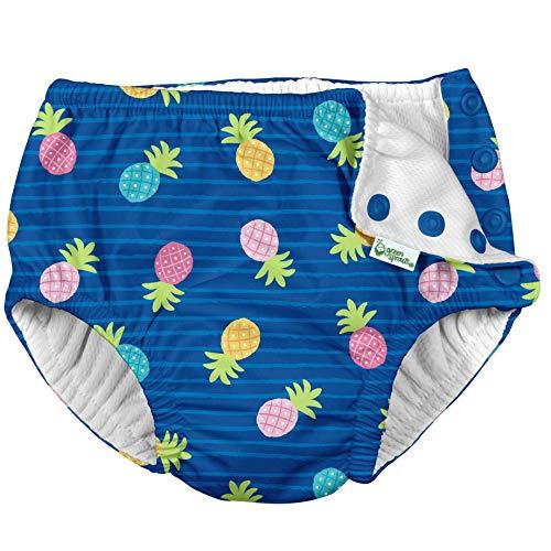 green sprouts - Swim Nappy - Blue Pineapple Stripe - 3T (2-3 Jahre)