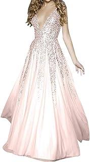 Meganbridal abito da sposa senza maniche con scollo a V stile boho da spiaggia
