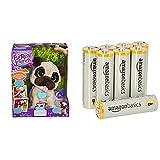 Hasbro FurReal Friends B0449EU6- JJ, mein hopsender Mops, elektronisches Haustier & Amazon Basics Performance Batterien Alkali, AA, 8 Stück (Design kann von Darstellung abweichen)