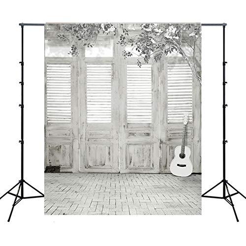 WQYRLJ Indoor Coulisse 6 × 10 Ft, piano gitaar trappen fotografie achtergrond volwassenen portret binnendecoratie fotosessie Studio rekwisieten video wallpaper D