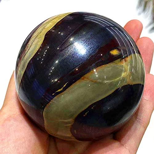 GHJGHJ Cuarzo Natural Puesta de Sol Piedra Esfera de Cristal Energía Gema Decoración Regalo Inicio Regalo (Size : 45 50mm)